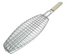 BBQ Fish Grid 380mm X 150mm Chrome with Handle