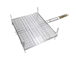 BBQ Grid 420mmx340mm Chrome with Handle & Legs