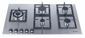 HOB915B-MCI SAFEGAS 5BURNER STAINLESS WITH SQUARE GRIDS