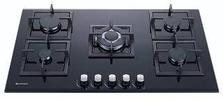 HOBGHG915-MCB  SAFEGAS 5BURNER GLASS