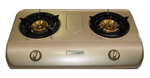 Safegas 2 Burner Automatic Teflon Coated Stove