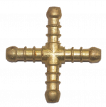 8mm Brass X Piece